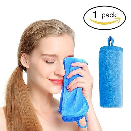 Toalla de limpieza facial reutilizable de microfibra suave para limpiar la piel sensible, sin productos
