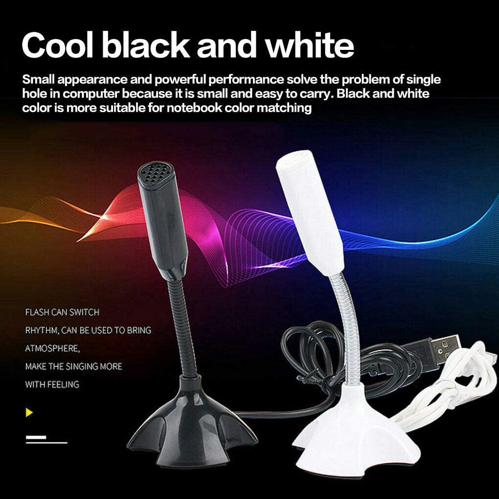 Fit for Singing Mini computer microphone Stand for PC Laptop Computer Notebook Recording Desktop USB Microphone Host Voice Chatting