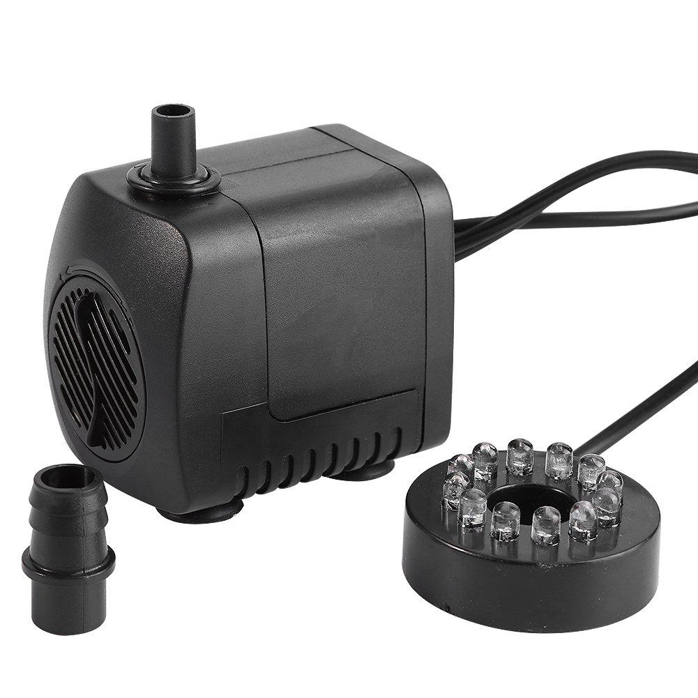 Yosoo 15W Mini Submersible Water Pump for Pond Aquarium Fish Tank Fountain Water Pump Hydroponics US Plug 110-120V