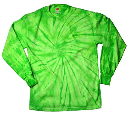 a6f8c48306c Buy Cool Shirts Mens Tie Dye Shirt Spider Lime Green Long Sleeve T-Shirt 3XL