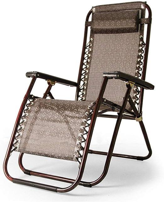 Mueble de jardín / Terraza reclinable Patio Sillas reclinables Zero Gravity Tumbonas en el jardín Al aire libre Silla con reposapiés Plegable y portátil Silla mecedora con reposabrazos Soporte 200 kg: Amazon.es: