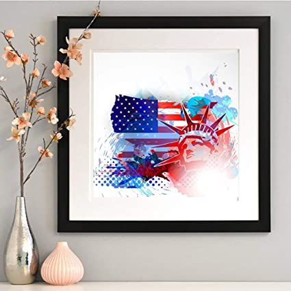 Kid Art Project American Flag Paintings
