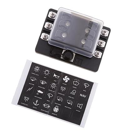 electroprime u201a 6 way blade fuse box holder for mini micro 2 pin rh amazon in