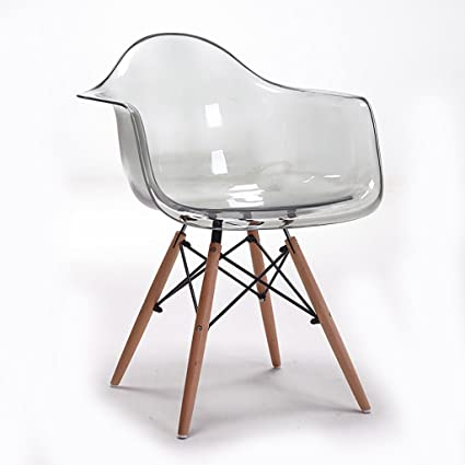 Amazon.com - LHcy Chair transparent handrail chair simple designer ...