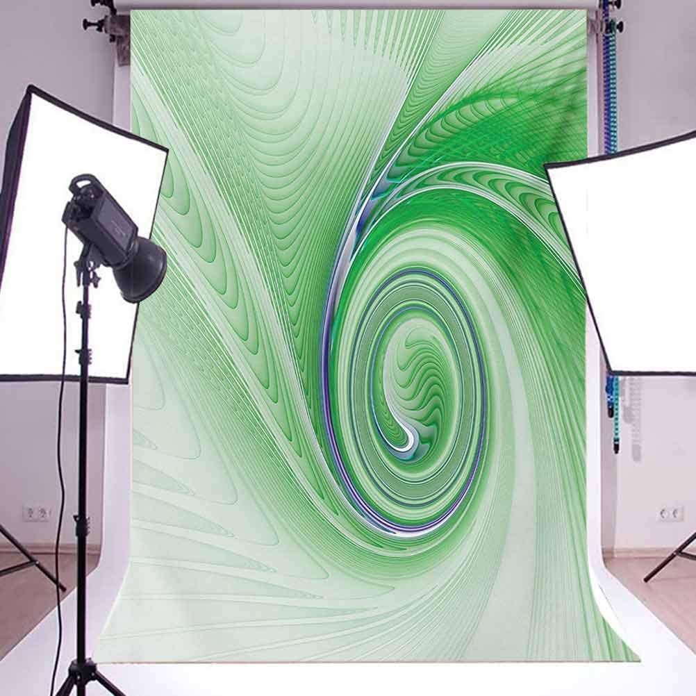 Spires 10x12 FT Photo Backdrops,A Curve Winds Around Fixed Motif Continuously Increasing Spirals Computer Figure Print Background for Photography Kids Adult Photo Booth Video Shoot Vinyl Studio Props