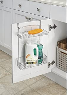 MDesign Over The Cabinet 2 Tier Storage Shelf U2013 Kitchen Storage Wire Hanging