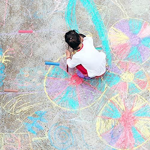 20 Pack Sidewalk Chalk Sets for Kids Non-toxic Jumbo Washable Sidewalk Chalk Set for Sidewalk art