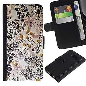 APlus Cases // Samsung Galaxy S6 SM-G920 // Las flores delicado Composición Arte // Cuero PU Delgado caso Billetera cubierta Shell Armor Funda Case Cover Wallet Credit Card