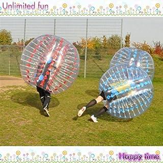 Yoli® à bulles Football Convient Dia (1,5m) humains gonflable pare-chocs Balles à bulles pour bulles de football Taille adulte couleur: transparent