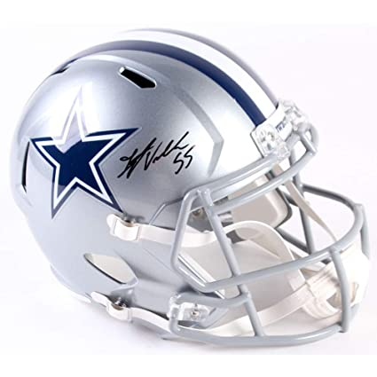 b2d4497ea96 Amazon.com  Authentic Leighton Vander Esch Autographed Signed Dallas Cowboys  Full-Size Speed Helmet (JSA COA)  Sports Collectibles