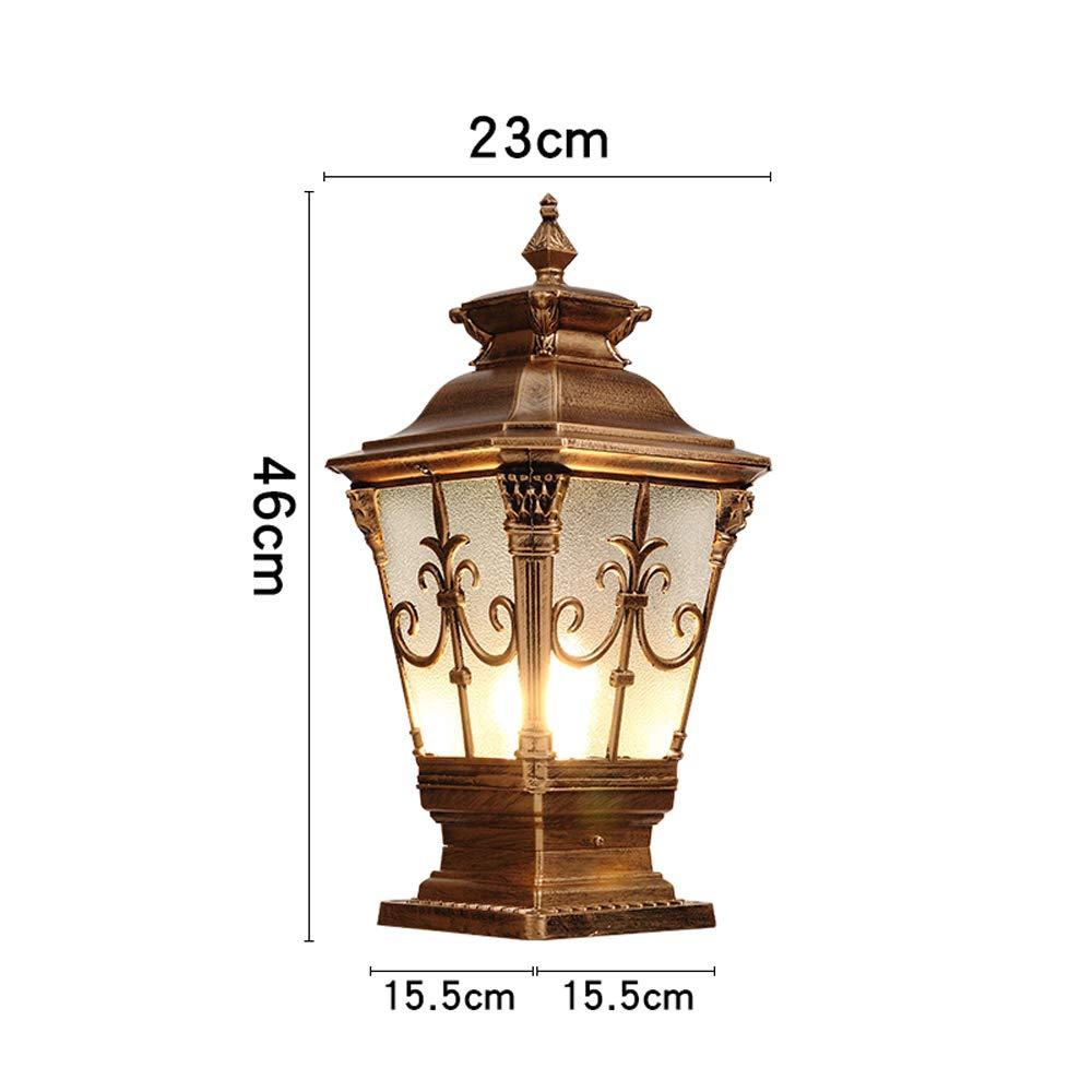 Amazon.com: Luces de columna para exteriores impermeables ...