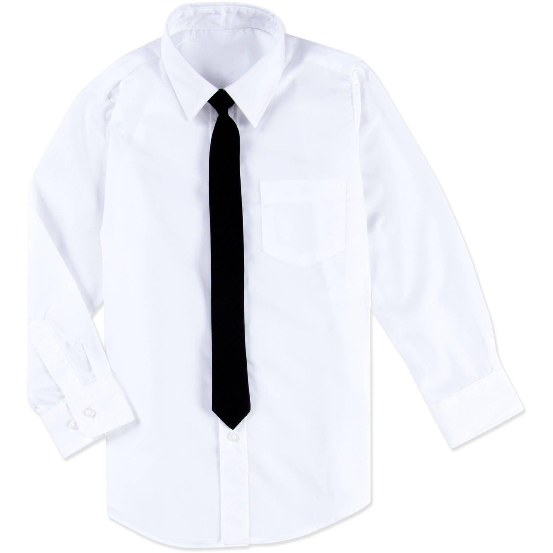 Camicia bianca per bambini / ragazzi e cravatta nera (14 anni / 164)