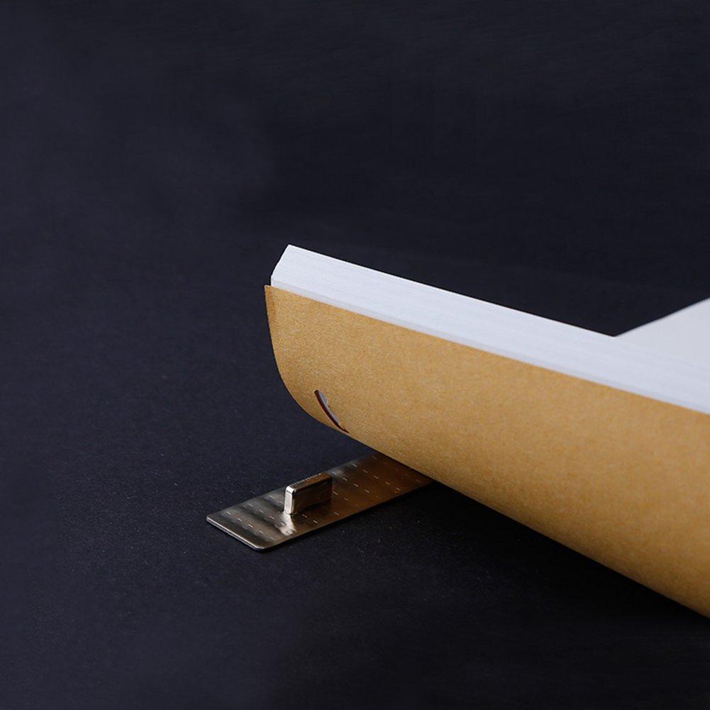 Owfeel Comic outils Stianless Acier R/ègle fixe Pieds papier blanc pour fixation danimation positionnement papier
