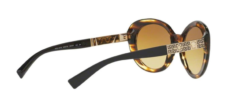 Versace VE4318A Sunglasses 52022L-55-55mm Lens Diameter Striped Havana Frame Yellow Gradient