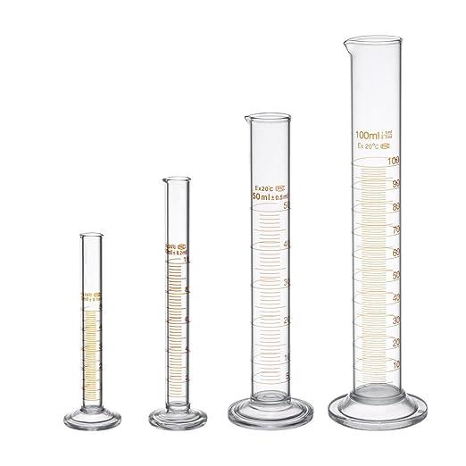 12 opinioni per Vetro Pyrex – Set di cilindro graduato con 2 spazzole, 5 ml, 10 ml, 50 ml, 100