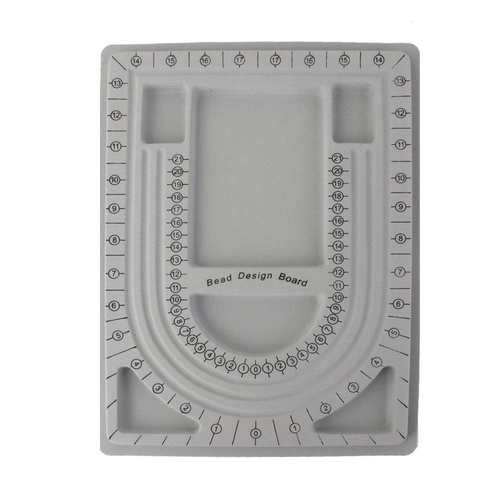 Beading Tray Bead Trays Stringing Jewelry Craft Design Organizer Board Tool Generic STK0113012804
