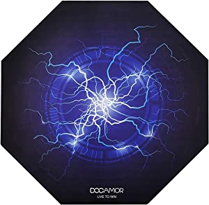 """Docamor Gaming Chair Floor Mat, 47"""" x 47"""" Large Office Computer Chair Mat 