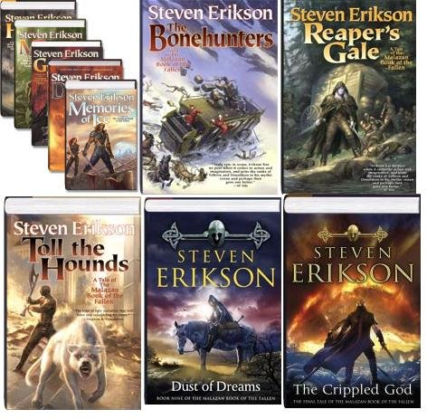 Complete Malazan Series (Gardens of the Moon, Deadhouse Gates, Memories of Ice, House of Chains, Midnight Tides, the Bone Hunters, Reaper's Gale, Toll the Hounds, Dust of Dreams, the Crippled God) (Malazan, 1-10) pdf epub
