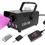 lotmusic Fog Machine,Smoke Machine Fog with Lights Wireless Remote Control 13 Colorful LED Light Effects for Holidays Parties