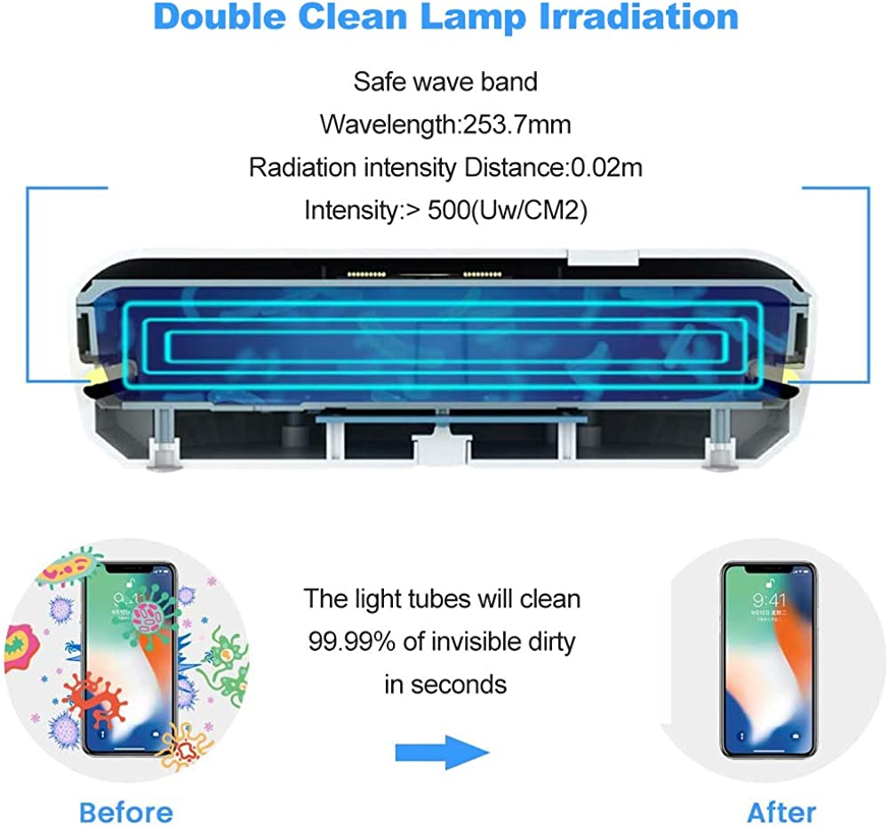 Phone Cleaner Portable Cell Phone Cleaner with Wireless Phone Charger 10W Qi Fast Charging Aromatherapy Diffuser Multifunctional Phone Cleaner for iPhone Android Smartphones Jewelry Keys Watches