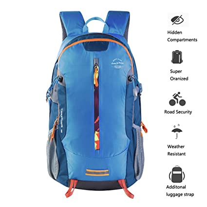 5b609a27cce7 Amazon.com   Lucien Hanna Hiking Daypack 30L Travel Camping Backpack ...