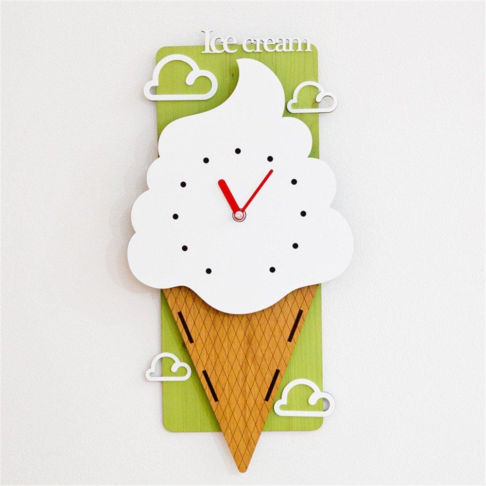 ZloveM Reloj De Pared Silencioso Redondo Reloj para Hogar, Sala De Estar, El Aula Niño Moderno C21*41,8Cm.: Amazon.es: Hogar