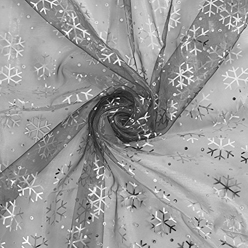 Deconovo Decorative Organza Sheer Tablecloth DIY Christmas Tree Skirt