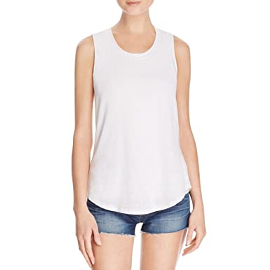 7b9f746bca Amazon.com  Red Haute Womens Linen Heathered Tank Top White S  Clothing