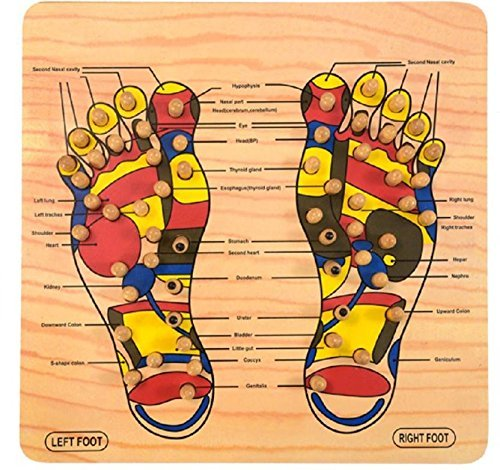 Mystyle Label 40-Point Wooden Foot Acupressure Massager Reflexology Tools Pain & Stress Relief Massage Board with Different Pressure Point for Body and Weight Management by DECOHOME