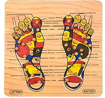 Amazon com: Mystyle Label 40-Point Wooden Foot Acupressure