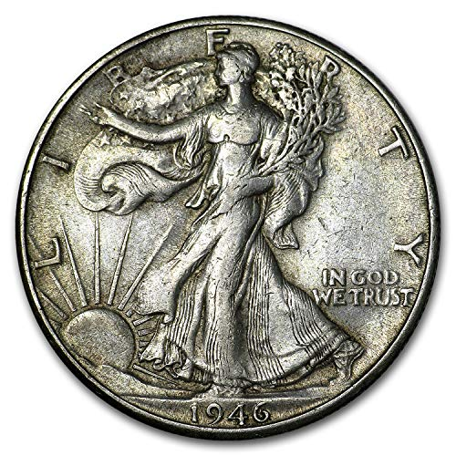 1946 D Walking Liberty Half Dollar XF Half Dollar Extremely Fine
