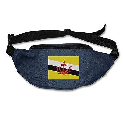 Futong Huaxia Flag Of Brunei Unisex Waist Packs Adjustable Outdoor Running Sport Hiking Fanny Packs Wallet