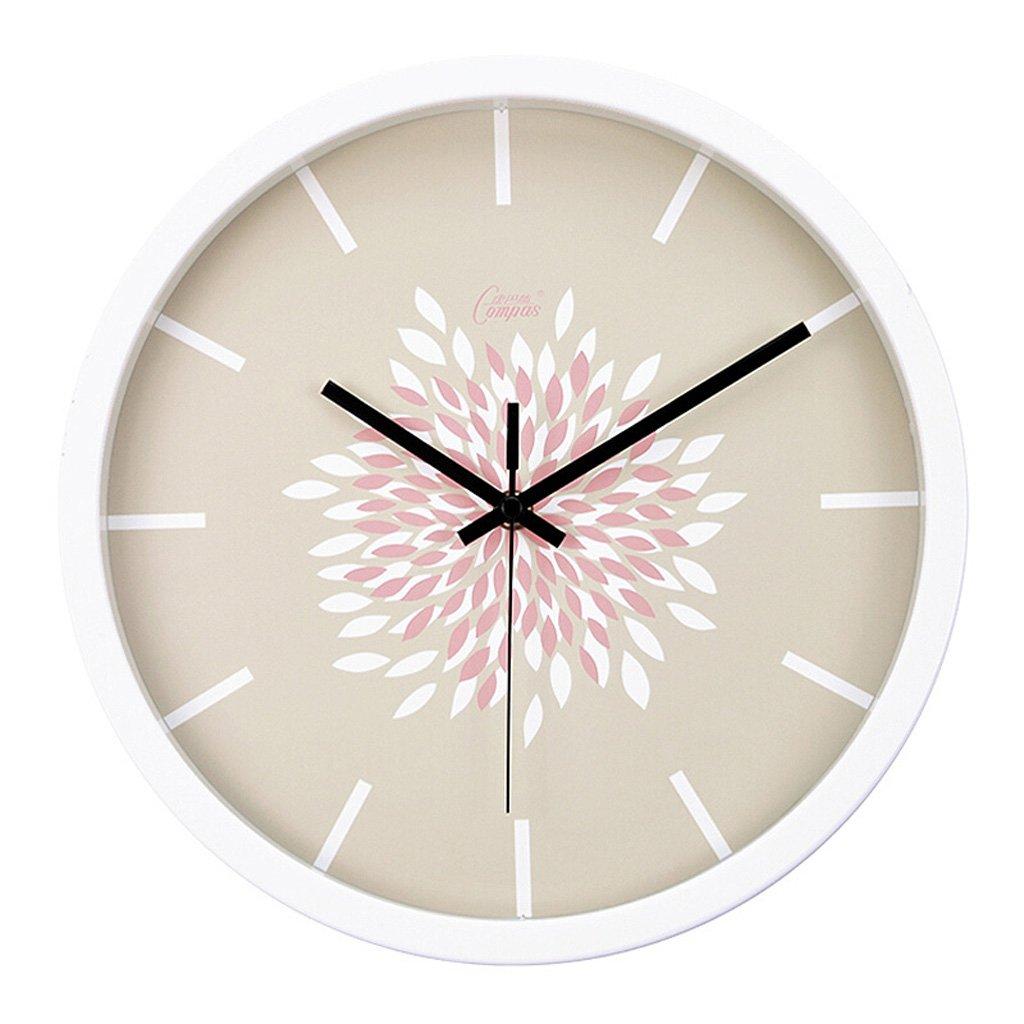創造的なベッドルームリビングルーム静かな掃引の壁時計、簡単な片面壁ペイントオフィスルーム防曇ガラスのラウンドウォールクロック (Color : A, サイズ : 35.5cm) B07FQ8JJ3QA 35.5cm