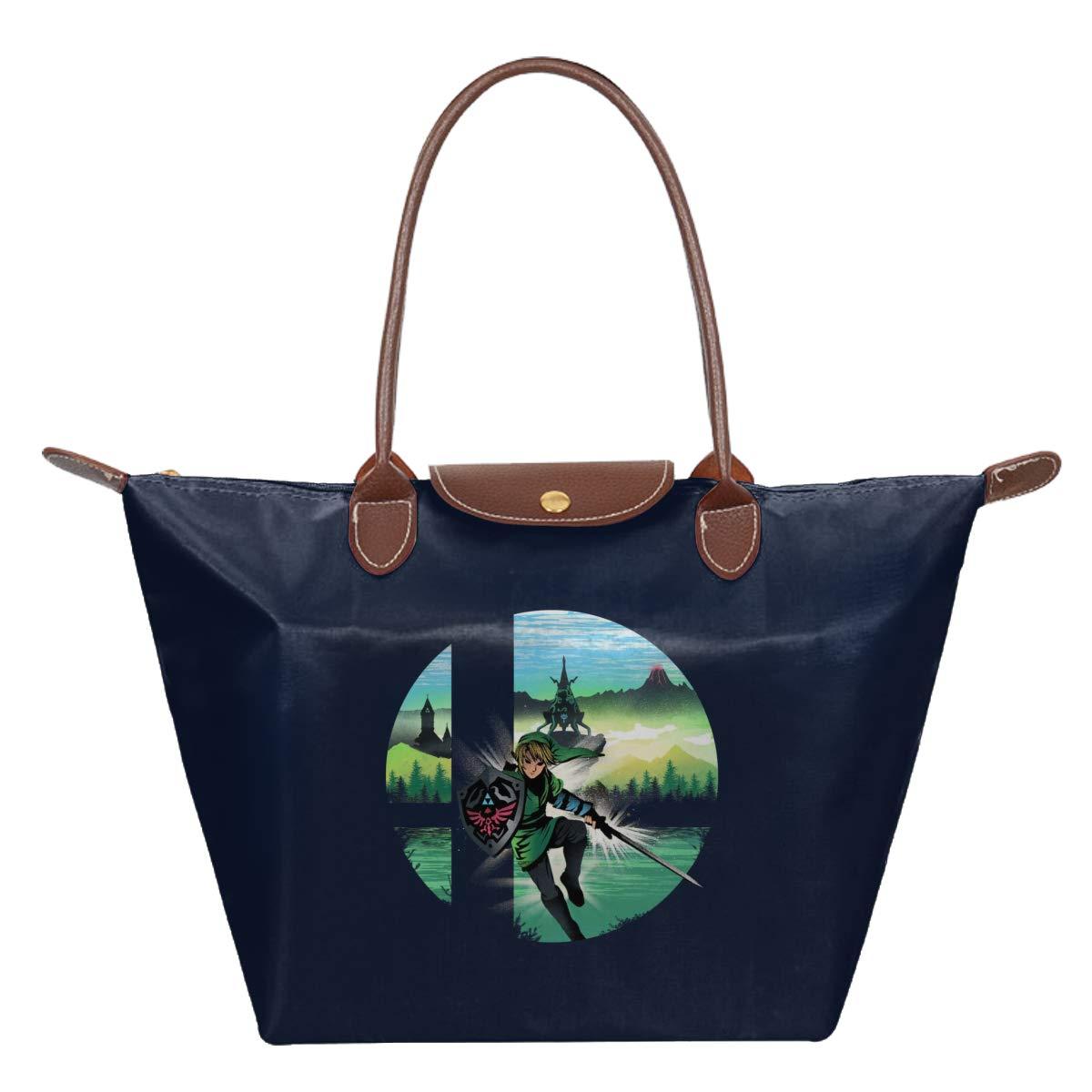 Smashbros Zelda Waterproof Leather Folded Messenger Nylon Bag Travel Tote Hopping Folding School Handbags
