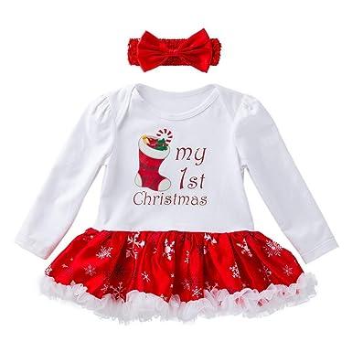 Amazon.com: Vestido de Navidad para bebé, bebé, recién ...