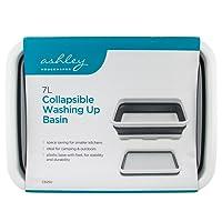 Ashley Unisex BB-CB250 7L Collapsble Collapsible Washing up Basin, Grey/White, Medium