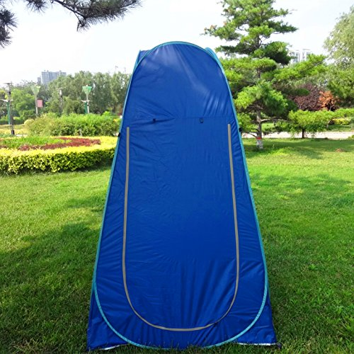 IFLYING Portable Pop up Tent Camping Beach Toilet Shower Changing Room with Carrying Bag (Blue)