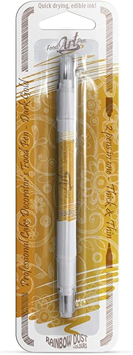 Dark Gold Edible Food Pen for Cake Decorating