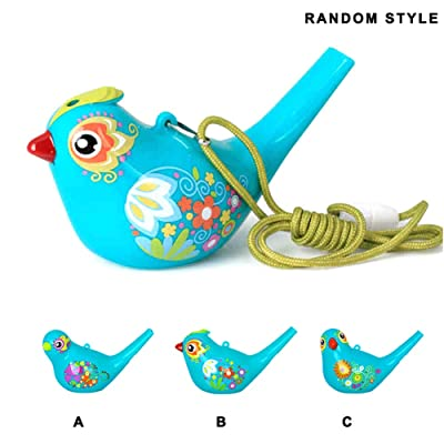 Liveday Bird Whistle Non-Toxic Baby Bath Toy Colorful Paint Bird Whistle Gift for Kids Children Durable: Home & Kitchen
