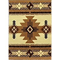 Rugs 4 Less Collection Southwest Native American Indian Area Rug Design R4L 318 Ivory (52x72)