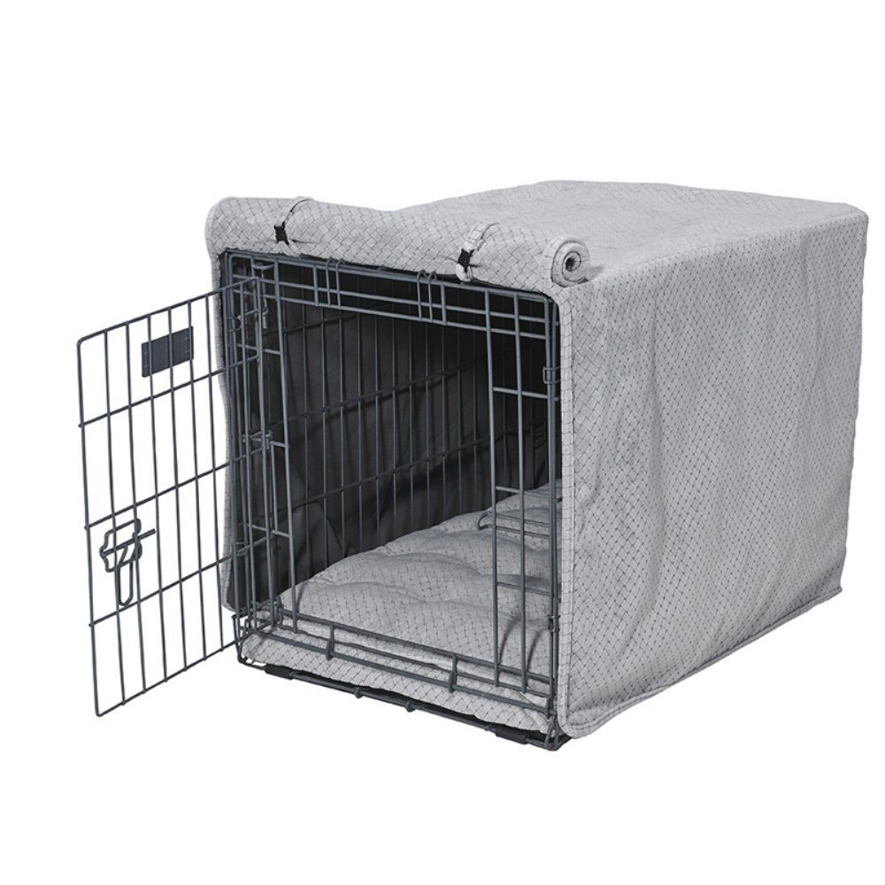 Bowsers Luxury Crate Cover, Large, Nickel Weave