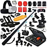 Xtech® Premium Accessory KIT for GoPro Hero4 Session - Hero4 HERO 4 - Hero 3 - Hero 3+ Hero 2 Hero2 and All GOPRO HERO Cameras Includes: 3 in 1 Monopod + Chest Head Mounts + MORE