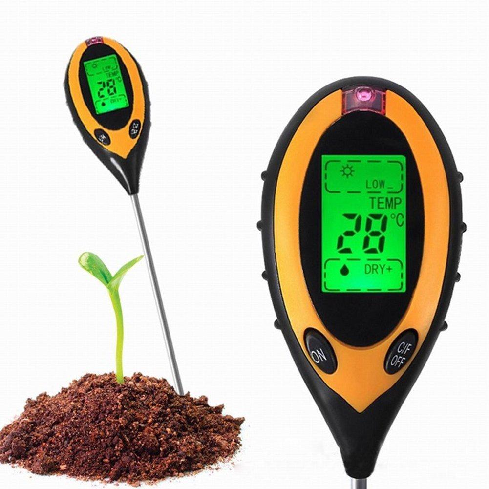 Everyday Garden 4in1 LCD Digital Lawn PH Soil Meter Temperature Sunlight Tester Tool