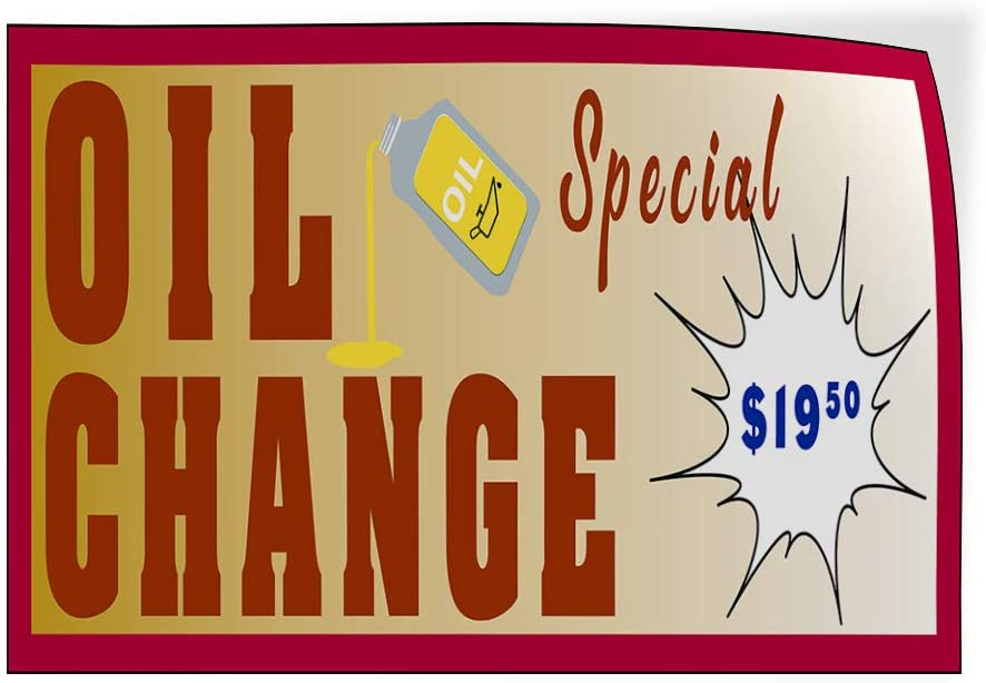 Custom Door Decals Vinyl Stickers Multiple Sizes Oil Change Special Price Business Oil Change Outdoor Luggage /& Bumper Stickers for Cars Orange 27X18Inches Set of 10