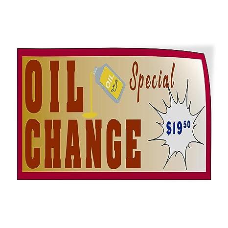 Amazon Com Oil Change Special Price Custom Door Decals