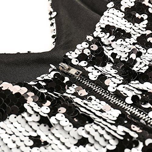 lentejuelas de la noche FOLOBE de de Silver fiesta mujer vestido vestido dcRSUW