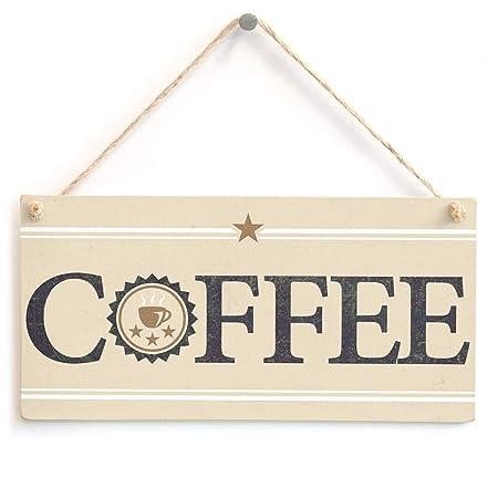 Hunnry Coffee Letrero de Placa de Madera Carteles de Madera ...