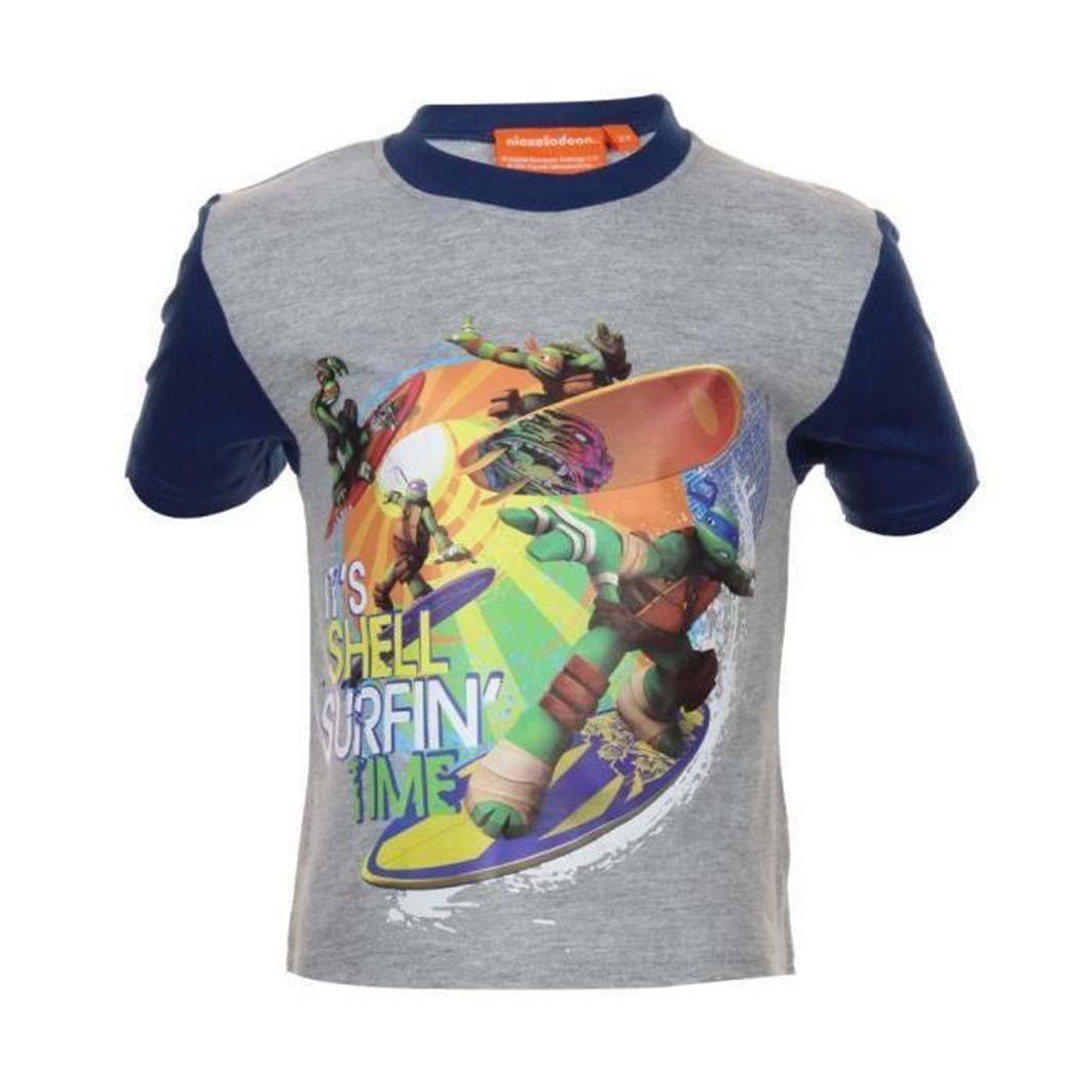 Pink Co.-Camiseta con diseño de Tortugas ninja gris 4 años ...