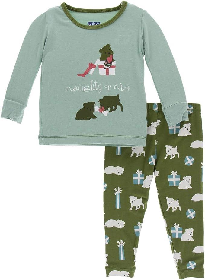 Baby Pajamas KicKee Pants Print Pajama Set Long Sleeve Tee Baby Sleepwear Set