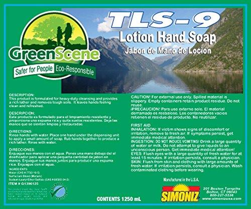 Simoniz G1396125 Green Scene TLS-9 Touch Free Hand Soap, ...